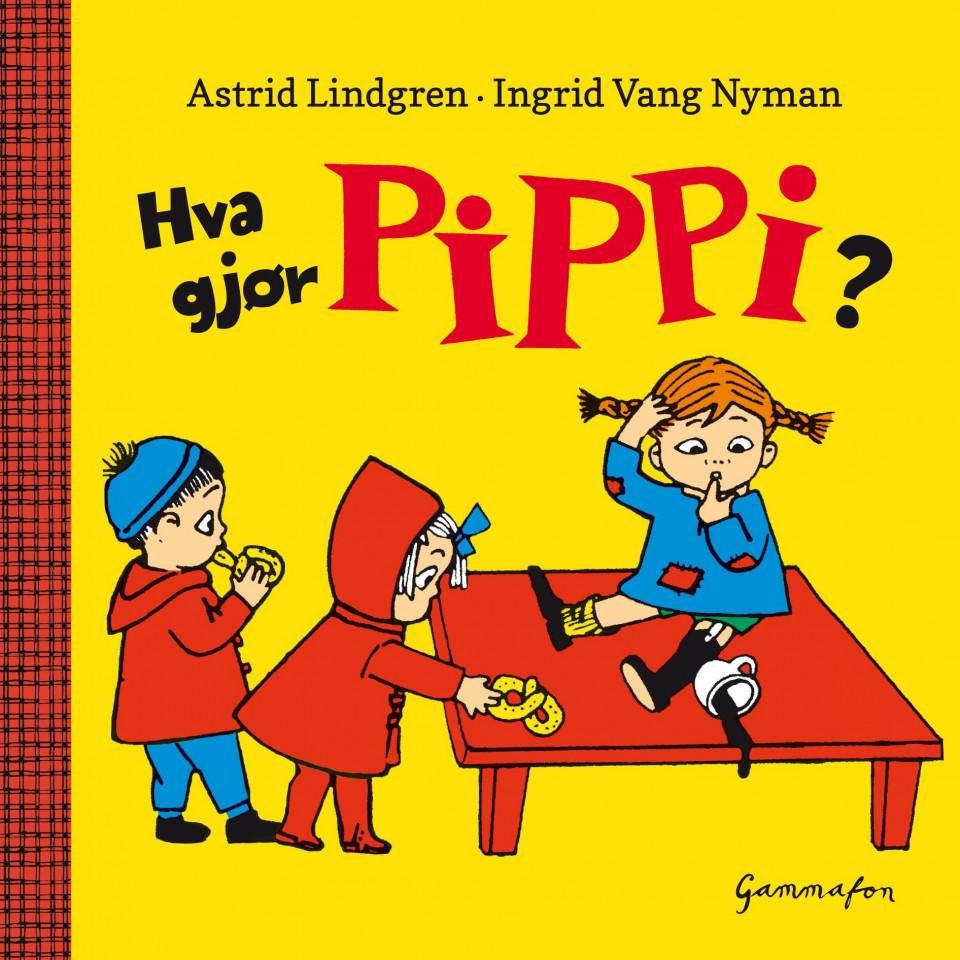 Hva gjør Pippi? av Astrid Lindgren (Pappbok) | Barnas Egen Bokverden